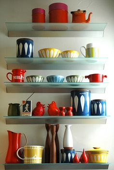 great collection of Cetherrine Holm enamelware