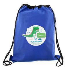 Personalised Swim & Kit Bag - Be Roarsome Dinosaur