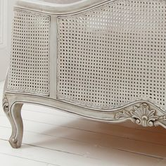 grey painted bed | NEW! French Grey Painted Rattan Bed | French Beds | Beds & Mattresses ...