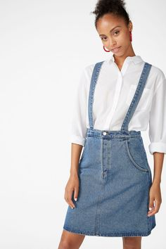 701c8748f0a0 Denim dungaree skirt - Country blue - Skirts
