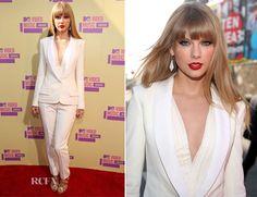 Taylor Swift In J Mendel - 2012 MTV Video Music Awards
