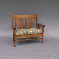 Mission Oak Settee | Sale Number 2699M, Lot Number 615 | Skinner Auctioneers