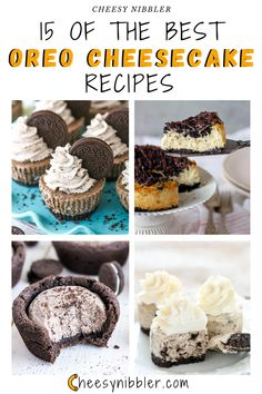 The Best Oreo Cheesecake Recipe, Oreo Cheesecake Cookies, How To Make Cheesecake, Delicious Chocolate, Delicious Desserts, Muffins, Oreo Biscuits, Mini Cheesecakes, Easy