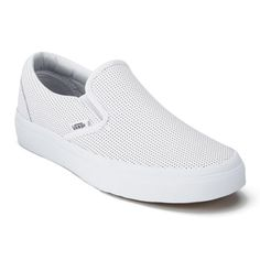 db6ac8ede Nice Vans Shoes Vans Women's Classic Perforated Leather Slip-On Trainers