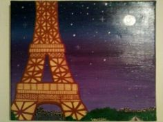 La Tour Eiffel de nuit.