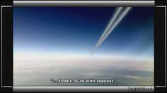 TWO CHEMTRAIL TANKER JETS ALMOST COLLIDE WITH FED-EX COMMERCIAL AIRCRAFT