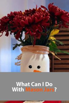 What Can I Do With Mason Jars? Mason Jar Crafts, Mason Jar Diy, Painted Mason Jars, What Can I Do, Craft Tutorials, Craft Supplies, Birthday Gifts, Holiday, Christmas