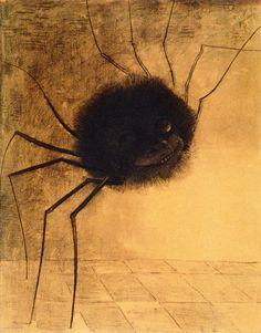 (4) Twitter Drawings 1878-1885 Odilon Redon