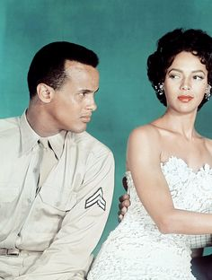 Harry Belafonte and Dorothy Dandridge for Carmen Jones, 1954. Via hollywoodlady.tumblr.com/