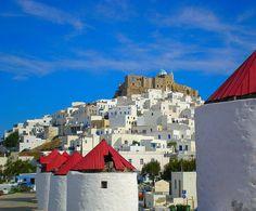 #Windmills & Medieval Castle #Astypalaia Island, #Greece