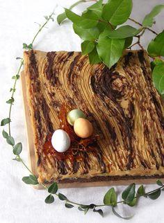 "Every Cake You Bake: Mazurek makowo-kajmakowy ""deska"" Butcher Block Cutting Board, Food Inspiration, Catering, Healthy Eating, Tasty, Sweets, Cookies, Baking, Cake"