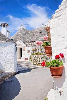 Alberobello, famous for its unique trulli houses is a must-see in Puglia #italy #puglia #travel