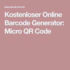 Kostenloser Online Barcode Generator: Micro QR Code Qr Code Generator, Coding, Programming