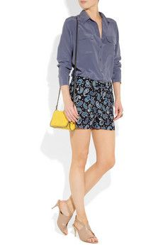 Equipment top, Stella McCartney shorts and accessories