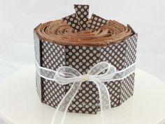 Chocolate Transfer sheets - Polka Dot cake decorating (great instructions)