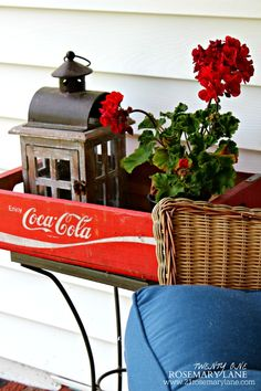 Summer Porch Decked Out in Red White