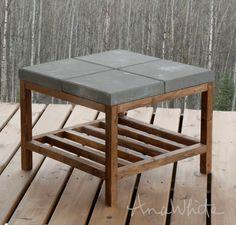 Diy outdoor table, Outdoor coffee tables, Concrete diy, Diy outdoor furniture, Concrete garden, Coffee table - Concrete paver topped coffee table plans by anawhite com - #Diyoutdoor #table