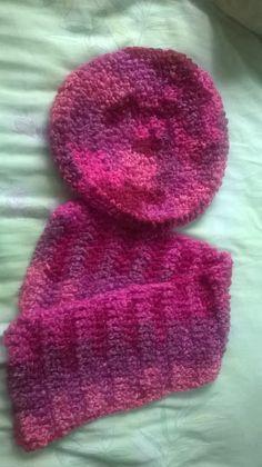 Boina y cuello a crochet