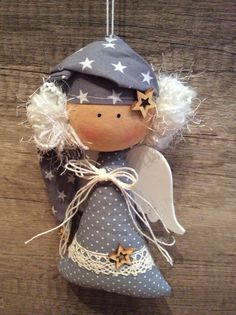 Best 12 Julie Nutting Mixed Media Doll Stamp – Wings by Prima Marketing for Scrapbooks, Cards, & Crafting – SkillOfKing. Nativity Ornaments, Felt Christmas Ornaments, Angel Ornaments, Christmas Nativity, Christmas Sewing, Christmas Crafts, New Years Decorations, Christmas Decorations, Angel Crafts