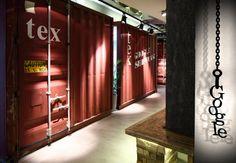 Agradable concepto industrial en oficinas de Google en Tel Aviv