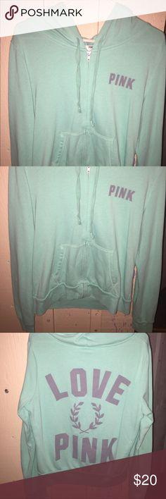 PINK VS full zip hoodie Large PINK Victoria's Secret Tops Tees - Long Sleeve