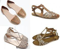 sandalias planas trenzadas   Las sandalias cangrejeras doradas y plateadas pisan fuerte este verano ...