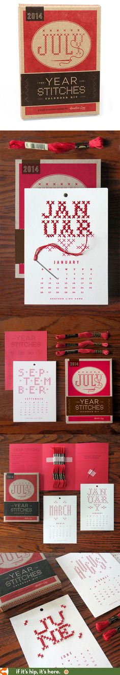 The 2014 Year In Stitches Calendar Kit Is beautifully designed and packaged.
