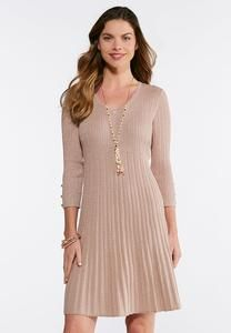 Ribbed Rose Gold Dress Cato Fashion Plus Size 6415336ed