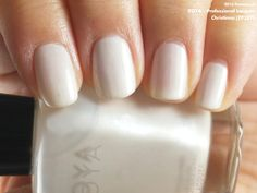 Zoya Professional Lacquer in Christinna (swatch by fivezero.ca) [white, frost, throwbackthursday]