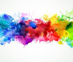 Bright watercolor stains Vinyl Wall Mural - Other Feelings