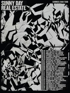 Jen Dodaro: Reimagined Tour Posters, Sunny Day Real Estate