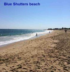 Blue Shutters Beach Is Right Next To The Quonnie Neighborhood In Charlestown Oceanfront Homes Line Waterfront