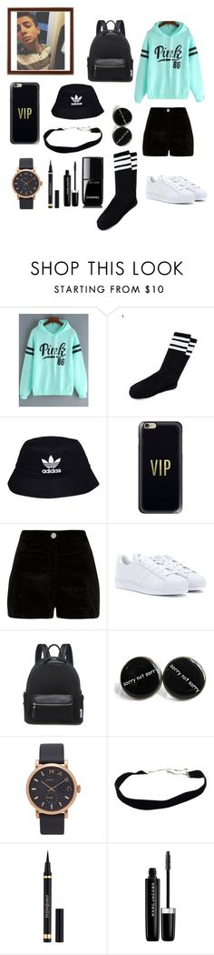 """""""A Date With Zach✌️"""" by pandagirllover ❤ liked on Polyvore featuring adidas Originals, Casetify, River Island, adidas, Marc Jacobs, Yves Saint Laurent, Chanel and Clayton"""