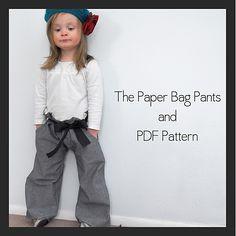 Paper Bag Pants {Free PDF Pattern} - Shwin&Shwin