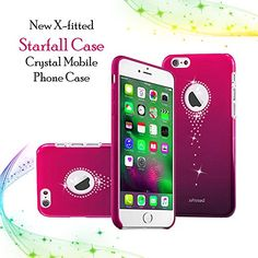 X-Fitted Apple iPhone Cover, Hard Plastic Back, Starfall Crystal Rhinestone Decoration Bling with Diamond Ultrasonic Embedded Craft for Apple iPhone (Pink) Apple Iphone 6s Cover, Iphone Case Covers, Latest Electronic Gadgets, Electronics Gadgets, Amazon Mobile, Crystal Mobile, Online Mobile, Mobile Covers, Mobile Phone Cases