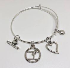 I Love Gymnastics Bracelet, Gymnastics Gift, Gymnastics Charm, Gymnast Gift, Gymnastics Jewelry, Gymnastics Necklace by TheCheerleadingShop on Etsy