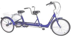Belize Bike Twin Tri-Rider Tandem Trike (Electric Motor Option Available) Electric Bikes - Electric Bike City Tricycle Bike, Adult Tricycle, Bicicleta Tandem, Tandem Bicycle, Suspension Design, Bicycle Design, Electric Motor, The Incredibles, Belize
