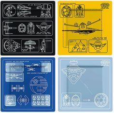 star wars blueprints plate set