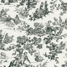 I pinned this Ink Toile Wallpaper from the It's A Wonderful Life event at Joss and Main!