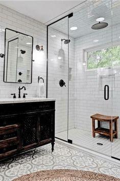 1919 Craftsman for sale in Indianapolis Indiana . - 1919 Craftsman for sale in Indianapolis Indiana - Vintage Bathroom Decor, Basement Bathroom, Bathroom Renovation, Bathroom Interior, Small Bathroom Remodel, Bathrooms Remodel, Bathroom Renos, Modern Bathroom Decor, Bathroom Renovations
