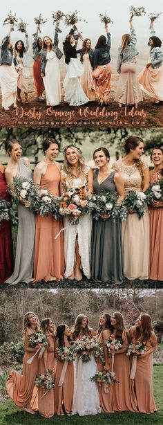 trending dusty red orange wedding color ideas for 2019