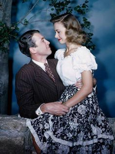 James Stewart and Donna Reed for 'Its A Wonderful Life'.