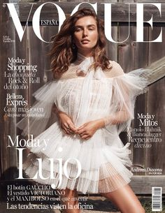 Andreea Diaconu wears Valentino for Vogue Spain's October 2015 cover by Benny Horne [cover]
