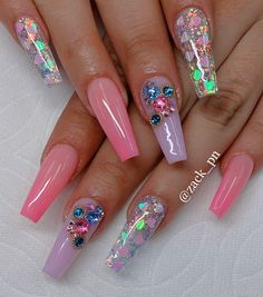Super pretty nail art designs that worth to try 6 Cute Acrylic Nail Designs, Pretty Nail Art, Best Acrylic Nails, Beautiful Nail Designs, Cute Acrylic Nails, Nail Art Designs, Nails Design, Acrylic Art, Dope Nails
