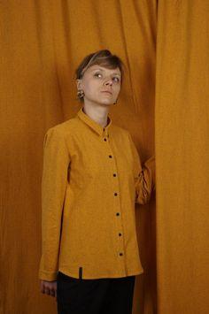 koszula SŁOŃCE - METR64 - Torby Nerki Plecaki... Chef Jackets, Blouse, Long Sleeve, Sleeves, Sweaters, Women, Fashion, Blouse Band, Long Dress Patterns