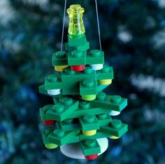 Mini 3-d-Baum-Christbaumkugel von ornaments4charity auf Etsy