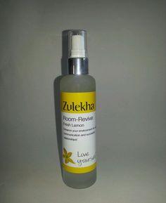 Room Spray Reviving Essential Oils 100ml Lemon Zulekha Aromatherapy Care