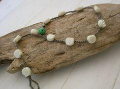 Sea shell crochet anklet Bohemian jewelry beach by 3DivasStudio, $20.00