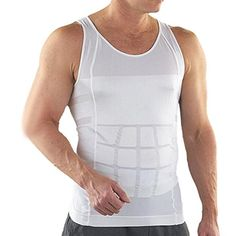 a779e3ed0b TopTie Men Slimming Body Shaper Tummy Waist Vest Shirt Abdomen Slim Muscle  Tank WHITEL --