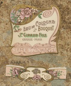 Antique Vintage French Apothecary Perfume Label 47